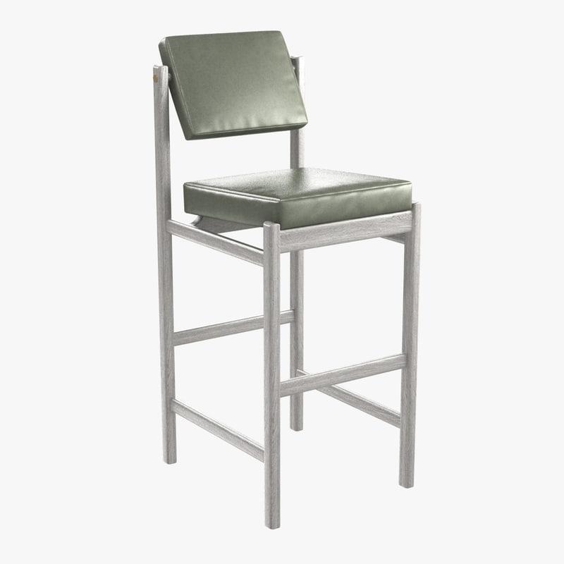 3D basic pivot bar stool model