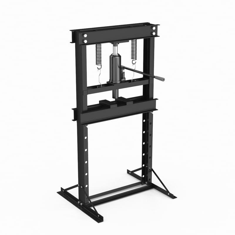 manual operated hydraulic jack 3D model