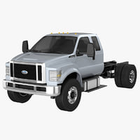 f-650 cab extended 3D model