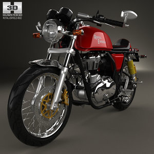 royal enfield continental 3D model