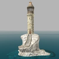 3D old lighthouse model