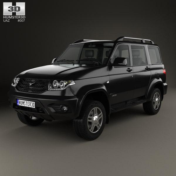 3D uaz patriot 3163 model