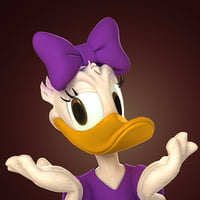 daisy duck 3D model