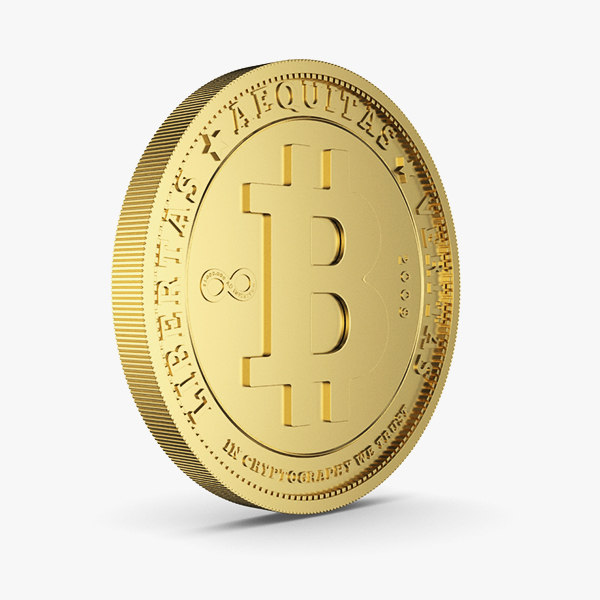 bitcoin gold 3D model