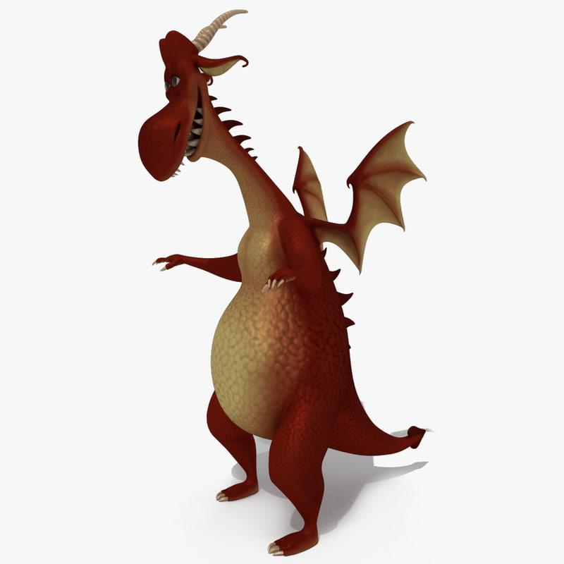 3D model dragon cartoon