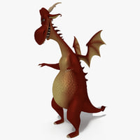 3D model dragon cartoon