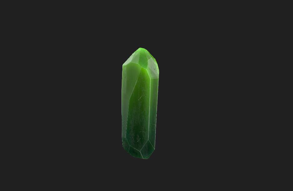 3D fantasy crystal model