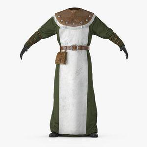 3D model medieval costume