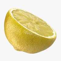3D lemon half