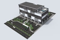 building exterior mall shopping 3D model
