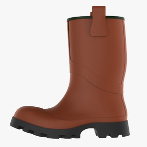 3D model rubber boot