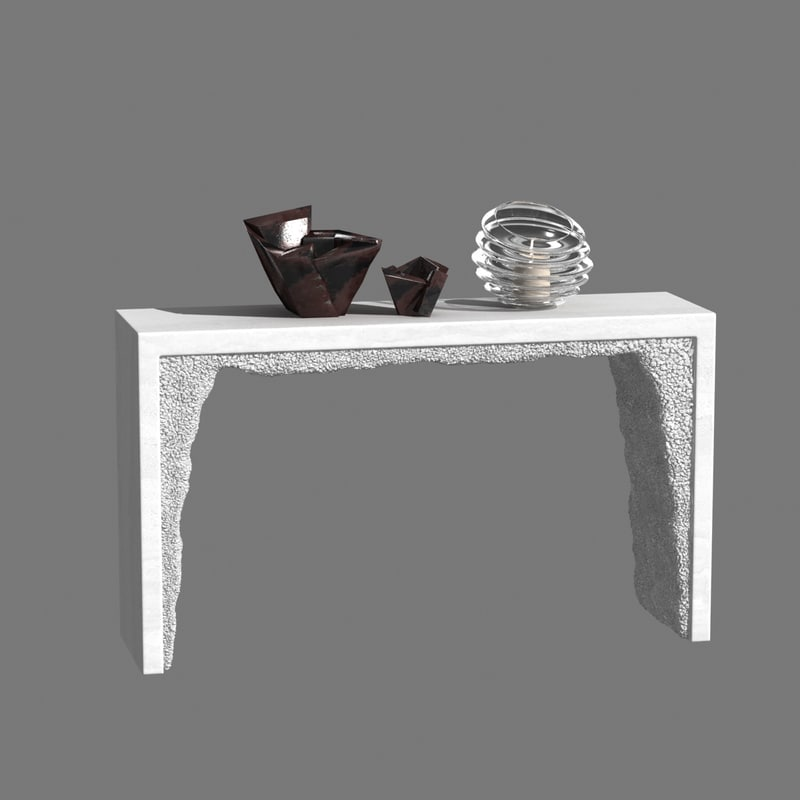 console white cement rock 3D model