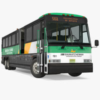 3D intercity bus mci 102dl3 model