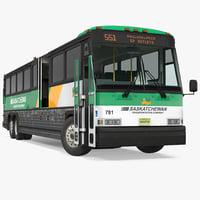 3D intercity bus mci 102dl3 model
