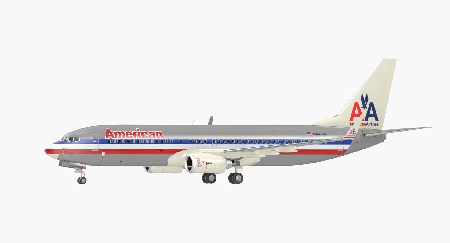 boeing 737-800 interior american airlines 3D model