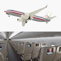 Boeing 737-800 with Interior American Airlines