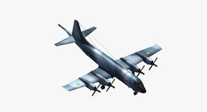 p3 orion aircraft iranian 3D model