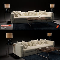 3D sofa beauty flexform