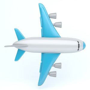 3D model icon airplane