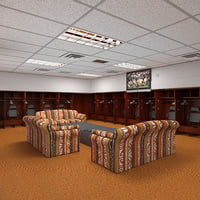 baseball locker room 3D model