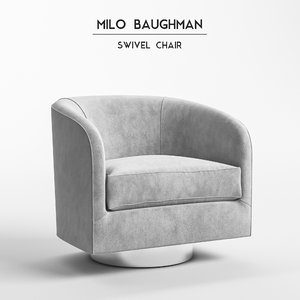 3D milo baughman chair model
