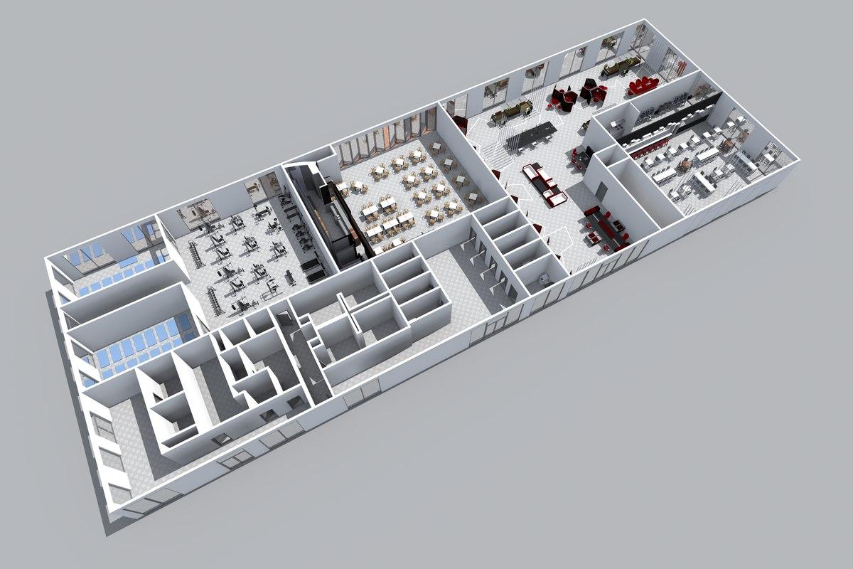 floor space 3D model