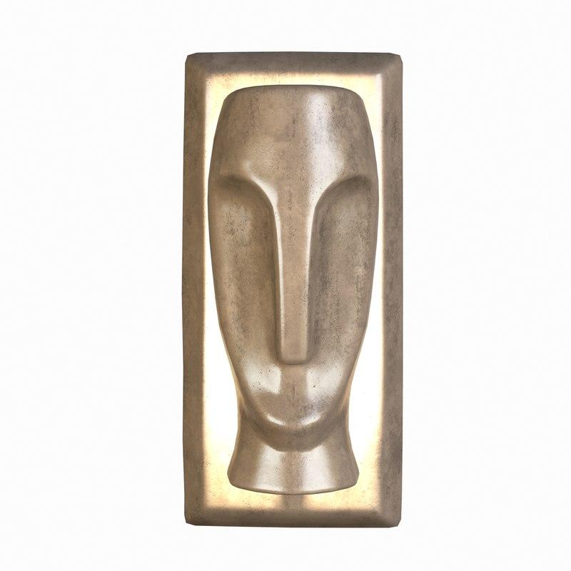 3D hamilton conte moai sconce