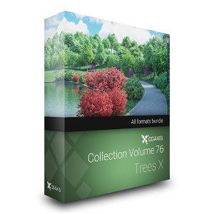 3D model volume 76 trees x