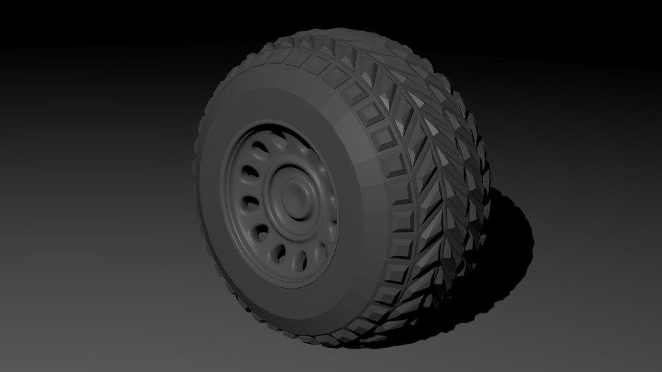 3D wheel terrain model