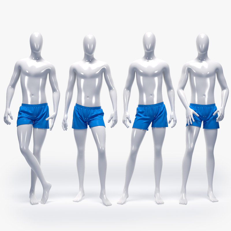 male swimming suit 3D model