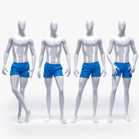 male swimming suit 3D model