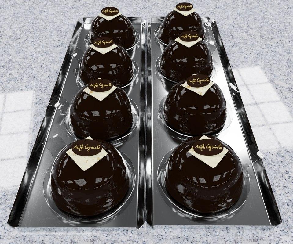 3D model chocolate treats