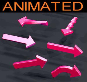 14 arrow animations 3D model