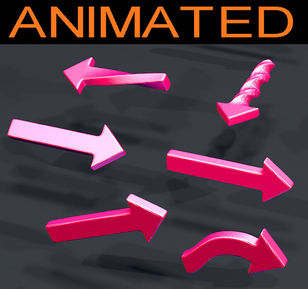 14 arrow animations 3D model