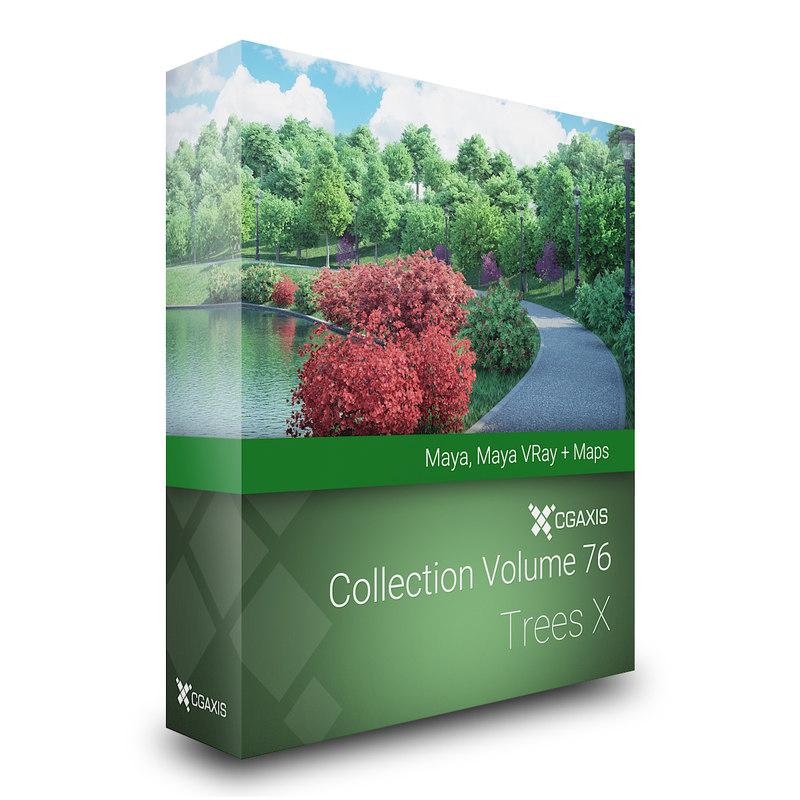 3D volume 76 trees x model