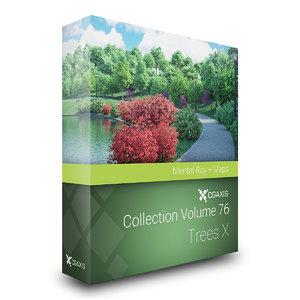 volume 76 trees x 3D model