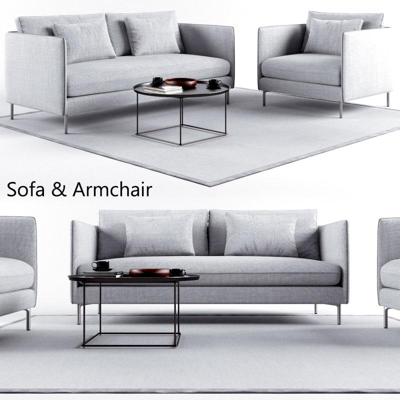 sofa set 1 3D model