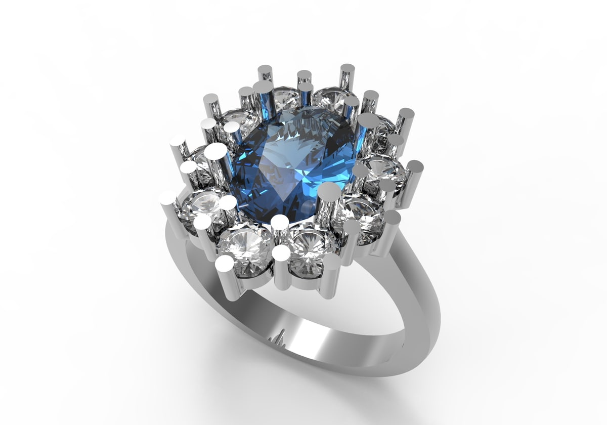 3D contour engagment ring model