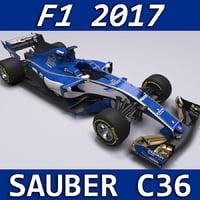 2017 sauber c36 3D model
