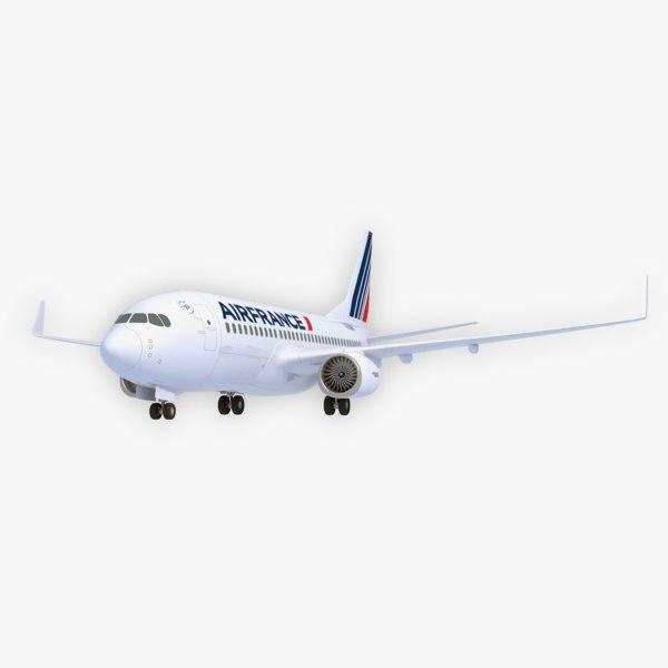 boeing 737-700 air france 3D