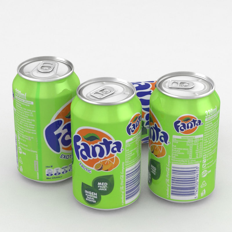 3D beverage fanta exotic