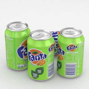 3D beverage fanta exotic