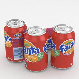 beverage fanta fruit 3D model