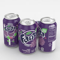 3D beverage fanta grape