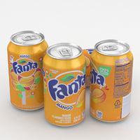 Beverage Can Fanta Mango 12fl oz