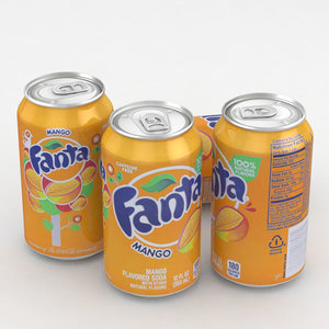 3D beverage fanta mango model