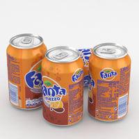beverage fanta mezzo 3D model