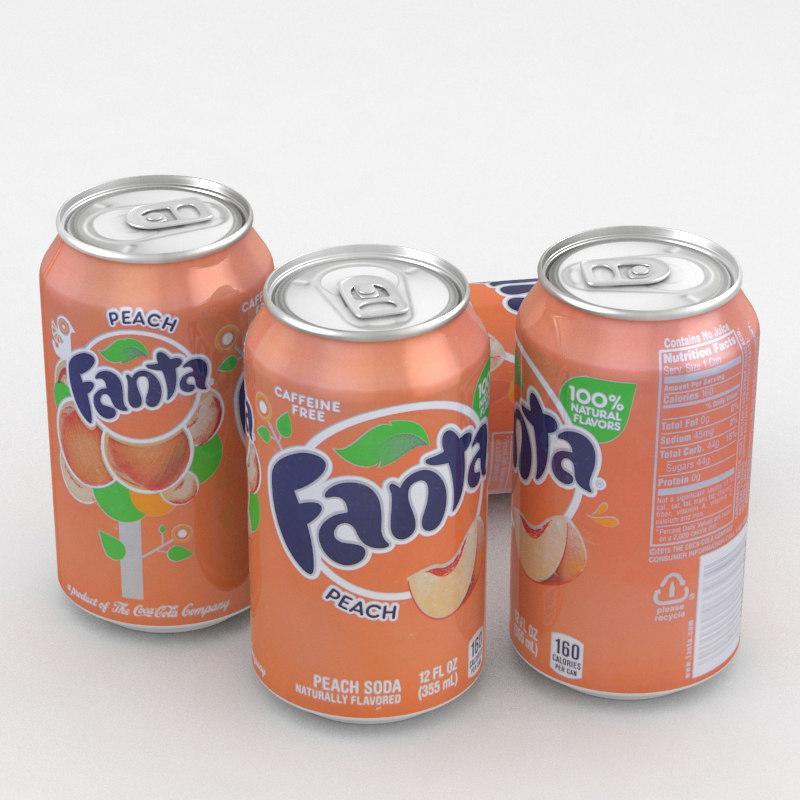 beverage fanta peach model