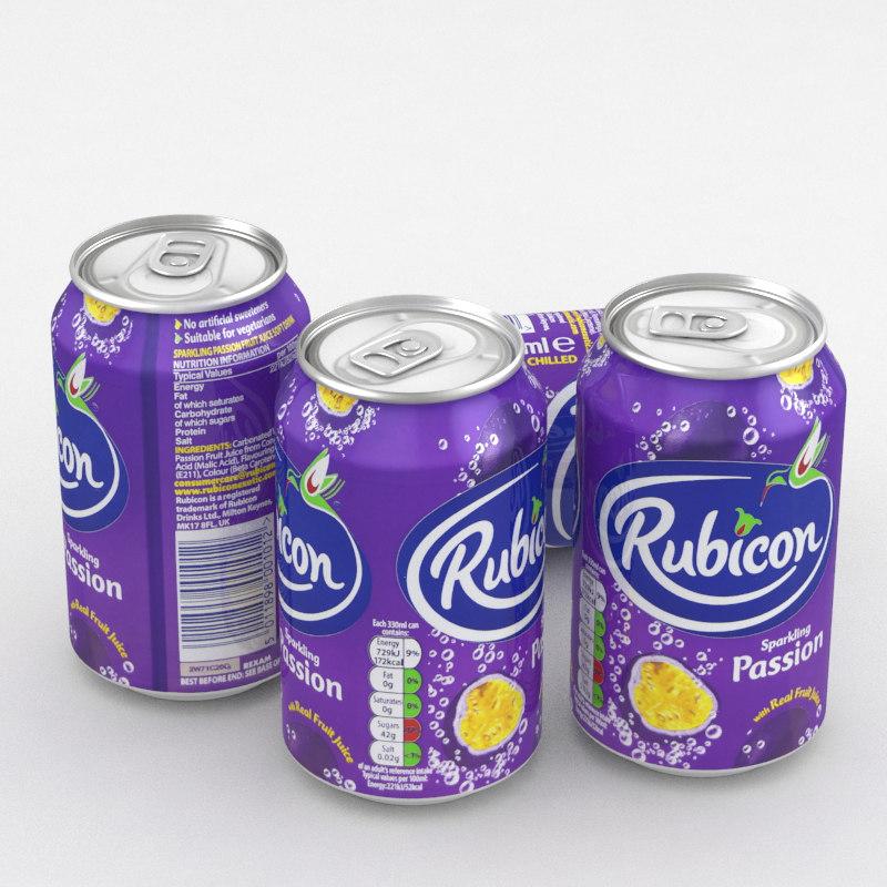 3D model beverage rubicon passion