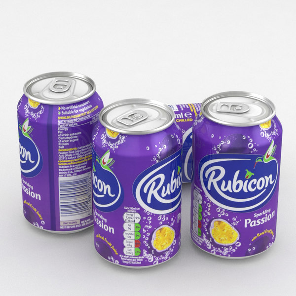 3D model beverage rubicon passion